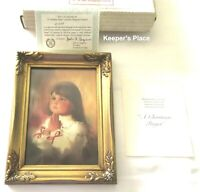 Donald Zolan A CHRISTMAS PRAYER Framed Signed Lithograph Print COA Brochure Box