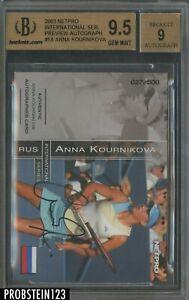 2003 Netpro Tennis International Series Preview Anna Kournikova RC AUTO BGS 9.5