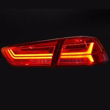 Audi Style LED Tail Lights Rear Lamp For Mitsubishi Lancer Evolution X 2010~2015
