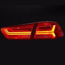 Audi Style LED Tail Lights Rear Lamp For Mitsubishi Lancer Evolution X 2010~2015