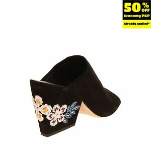 RIGHT SHOE ONLY RRP €425 TORY BURCH Leather Mule Sandal Size 37.5 UK 5 US 7.5