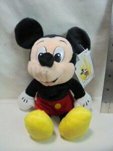 "Walt Disney World Mickey Mouse Bean Bag 8"" Plush"