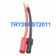 XT150 TO 4MM BANANA PLUG BATTERY CHARGE CABLE CONNECTOR 10AWG 10CM