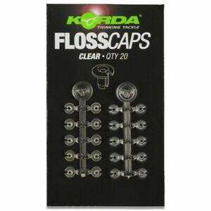 Korda Floss Caps Bait Tie Stops Clear Carp Fishing Rig Accessory