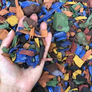 Bark Mulch & Wood Chips Multy Colorful 1/2litre(0.1gallon)Decorative