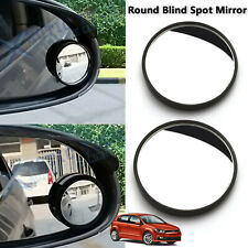 2x Round Rear-view Blind Spot Stick On Mirrors Convex 360° Glass Fit Volkswagen