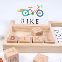 Baby Children Alphabet Letters Wooden Blocks Spelling Game Educational Toy Gift
