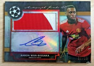 2020-21 Topps Museum Collection patch auto AARON WAN-BISSAKA # 12/25! Manchester
