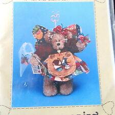 """Dream Babies Craft pattern Teddy Bear doll Flutterby Angel 15"""" primitive tea dye"""