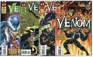 Venom: Sinner Takes All #1, 2, 4, 5  avg. NM 9.4  Marvel  1995  No Reserve