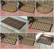 Heavy Duty Natural Coir Door Mat Rubber Non Slip Indoor Outdoor Entrance Floor