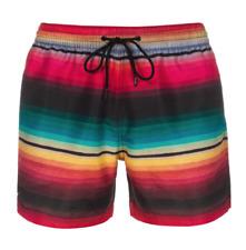 PAUL SMITH Men's Rainbow Blanket Stripe' Print Swim Shorts Trunks  NEW $185 Sz M