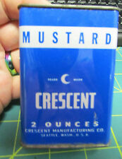 Crescent Spice Tin Crescent Mustard tin 2oz has some in it - recipe on back
