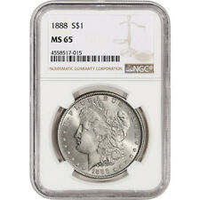 1888 US Morgan Silver Dollar $1 - NGC MS65