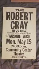 Robert Cray Was Not Was Original Concert Poster