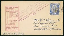 Mayfairstamps TONGA EVENT 1934 COVER NIUAFOOOU SS CITY OF LOS ANGELES CANOE MAIL