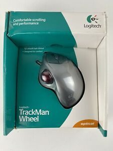 Logitech TrackMan Wheel Optical Wired Mouse USB PS2 Brand New