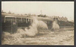 Postcard Clacton on Sea Essex view of Rough Sea early RP by Simmonds