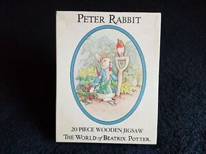 BEATRIX POTTER (PETER RABBIT) WOODEN OVAL SHAPED JIGSAW PUZZLE 1985 COMPLETE
