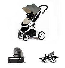 2in1 Venus Baby Pram Pushchair Buggy Stroller - Carry Cot - Travel Set