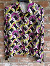 Versace Classic Vintage Vibrant Patterned 100% Silk Ladies Shirt blouse