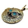 Halskette Eule Strass Eulenkette Uhu Kauz lange Kette Owl Necklace Medallion NEU