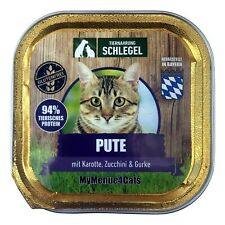 MyMenue4Cats Cat Food Turkey 100 G - Wet Food for Cats, Gluten-Free, Food
