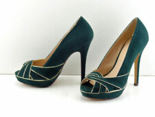 Faux Suede Court Patternless Slim Heels for Women