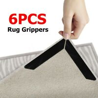 6 Pcs Rug Grippers Mat Non Grippers Anti Slip Rubber Grip Skid Carpet Tape