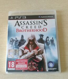 ASSASSIN'S CREED BROTHERHOOD PS3 PLAYSTATION 3 COMPLETO ITALIANO CD COME NUOVO