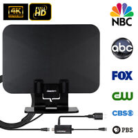 90 Miles 1080p Indoor Digital TV HDTV Antenna Amplifier UHF/VHF/ 4K with stand