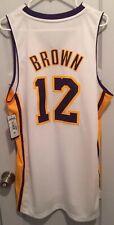 Shannon Brown Los Angeles Lakers NBA Jersey Men M Adidas Sewn #12 RARE Kobe SB12