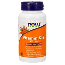 Vitamin K-2, 100mcg x 100 Veg Capsules - NOW Foods Cardiovascular K2