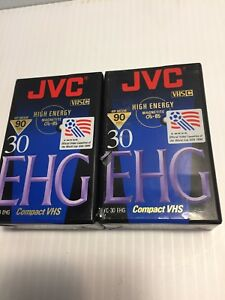 JVC TC-30 EHG VHS Blank Camcorder Video Tape 30 Min Lot Of 2