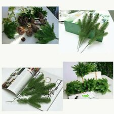 Artificial Pine Needles Christmas Branches Plastic Fake Plant Tree Ornament New