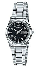 Casio Women's Silver Tone  Black Dial Stainless Steel Casual Watch LTPV006D-1B