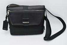 TUMI 0232371D Travis Crossbody Messenger Black NWT NEW Ballistic Nylon & Leather