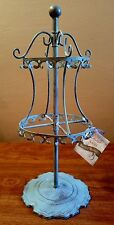Sheffield Home Pickling Green Metal Carousel Jewelry Holder Storage
