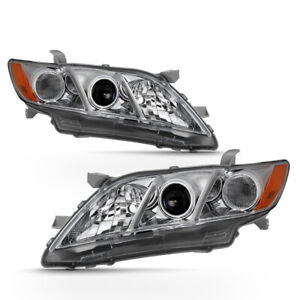 For 07-09 Toyota Camry Projector Headlight left+Right Replacement Driving Lamp