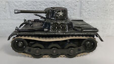 Vintage Tin Wind Up Gama Sparking Military Tank Germany