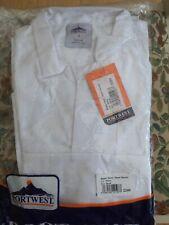 More details for portwest baker shirt short sleeves white small