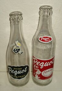 """Two """"Pequot"""" ACL Indian Bottles - Glastonbury, CT"""