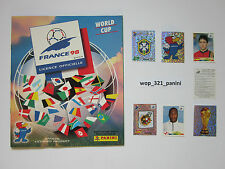 WM 98 1998 or 2002, 20 sticker stickers Panini World Cup France o Corea Japón