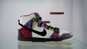 Nike SB Dunk High Huxtable Men Size 8.5 313171 101 White Black 2010