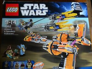 Lego Star Wars Anakin And Sebulbas Podracers 7962 100% Complete.