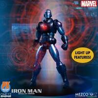 Mezco One:12 PX Exclusive InvinciIble Metal Iron Man Stealth Armor Lighted Blue!