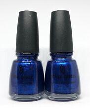 China Glaze Nail Polish Drinkin' My Blues Away 70638 Vibrant Glass Effect Blue