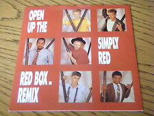"""Simply Red-Open Up The Red Box 7"""" vinyl PS"""