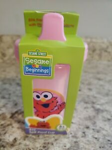 Sesame Street Elmo 8 OZ Spill Proof  Cup, 6 Months and Up, New