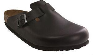 BIRKENSTOCK 060193 BOSTON black leather NARROW footbed NEW